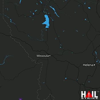 Hail Map MISSOULA 06-27-2017