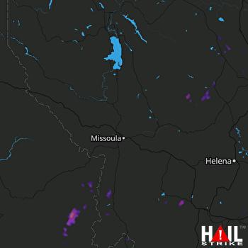 Hail Map Anaconda, MT 07-15-2017