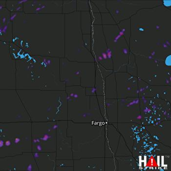 Hail Map Mahnomen, MN 08-27-2018