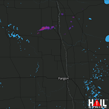 Hail Map Minto, ND 09-11-2018