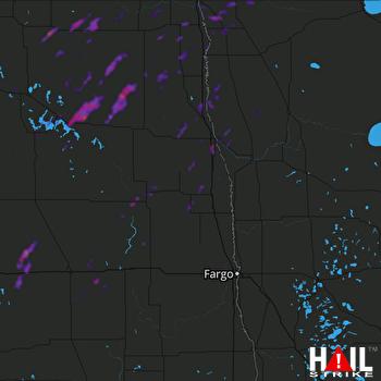 Hail Map Grand Forks, ND 06-08-2019