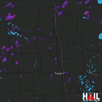 Hail Map Fargo, ND 07-09-2019