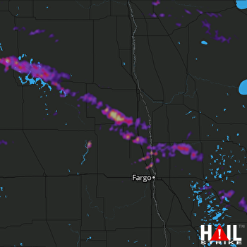 Hail Map Detroit Lakes, MN 08-20-2019