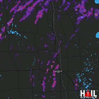 Hail Map Grand Forks, ND 09-20-2019