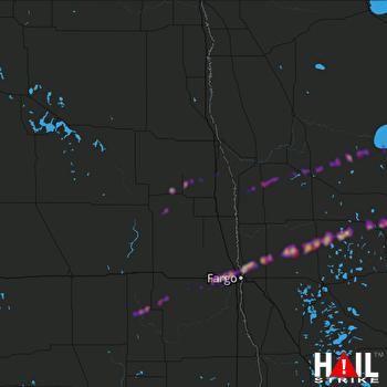 Hail Map West Fargo, ND 09-21-2019