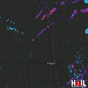Hail Map Fergus Falls, MN 06-09-2020