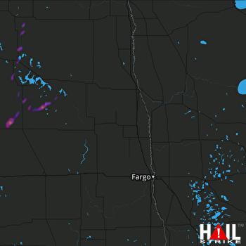 Hail Map Cando, ND 07-02-2020