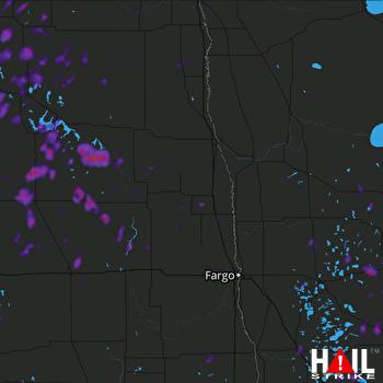 Hail Map Wadena, MN 07-17-2020