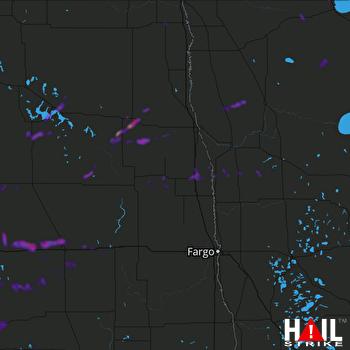Hail Map Devils Lake, ND 07-26-2020