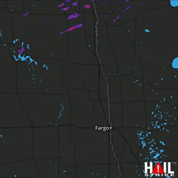 Hail Map Cavalier, ND 06-06-2021