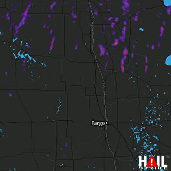 Hail Map Thief River Falls, MN 06-09-2021