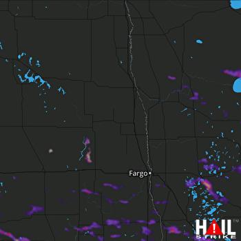 Hail Map Bemidji, MN 07-24-2021