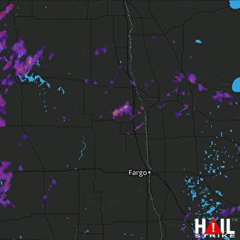 Hail Map Bemidji, MN 06-03-2017