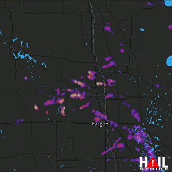 Hail Map Fergus Falls, MN 07-05-2017