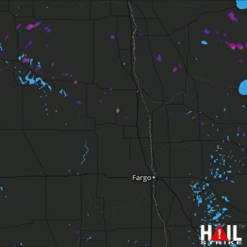 Hail Map Larimore, ND 06-23-2018