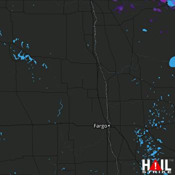 Hail Map GRAND FORKS 07-11-2018