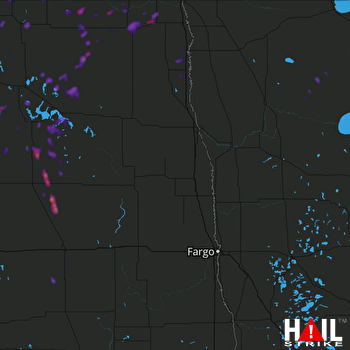 Hail Map Langdon, ND 07-19-2018