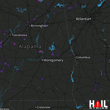 Hail Map Fairfield, AL 08-29-2018