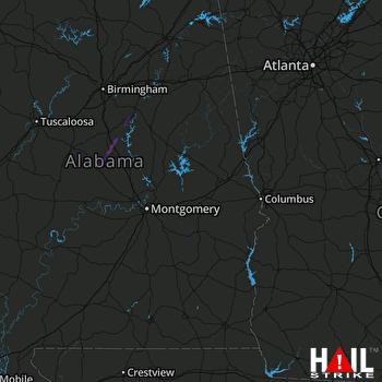 Hail Map Jemison, AL 12-27-2018
