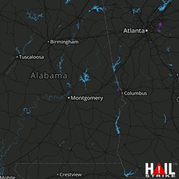 Hail Map Snellville, GA 08-05-2019