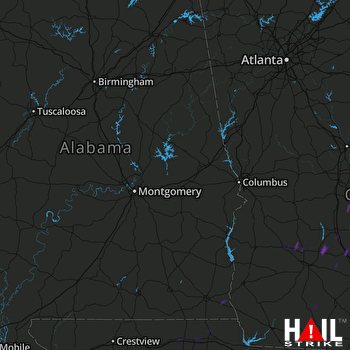 Hail Map Hawkinsville, GA 05-13-2017