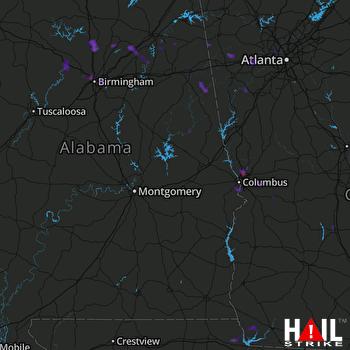 Hail Map Fultondale, AL 06-03-2017