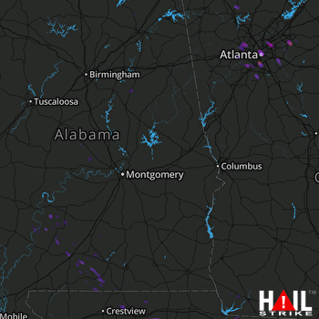 Hail Map Atlanta, GA 07-25-2017
