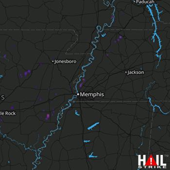 Hail Map Wynne, AR 04-18-2019