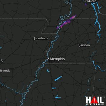Hail Map Caruthersville, MO 05-03-2019