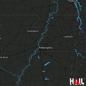 Hail Map MEMPHIS 07-08-2019