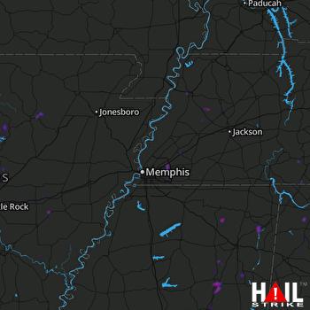 Hail Map Vilonia, AR 08-11-2020