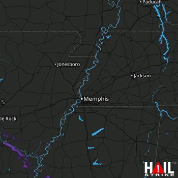 Hail Map Grady, AR 08-14-2020