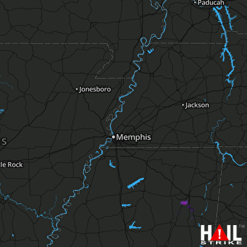 Hail Map Verona, MS 09-01-2020