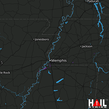 Hail Map Southaven, MS 01-25-2021
