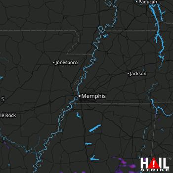 Hail Map Carrollton, MS 09-01-2021