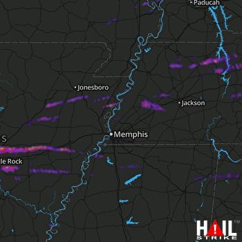 Hail Map Cabot, AR 10-16-2021