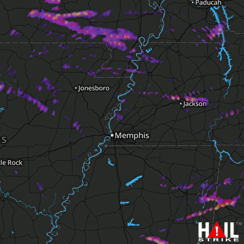 Hail Map Jackson, TN 03-10-2017