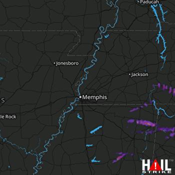 Hail Map Russellville, AL 04-22-2017