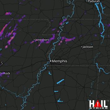 Hail Map Jonesboro, AR 05-12-2017