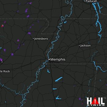 Hail Map Bald Knob, AR 08-07-2018