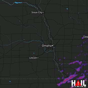 Hail Map Atchison, KS 08-31-2018