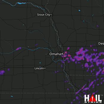 Hail Map Omaha, NE 09-01-2018