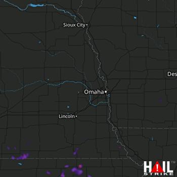 Hail Map Marysville, KS 09-03-2018