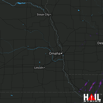Hail Map Albany, MO 10-08-2018