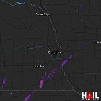 Hail Map Lincoln, NE 04-11-2019