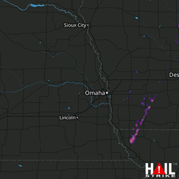 Hail Map Fort Dodge, IA 05-22-2019
