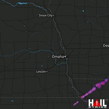 Hail Map Hiawatha, KS 05-25-2019