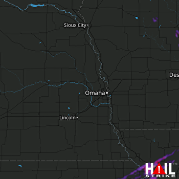 Hail Map Atchison, KS 05-25-2019
