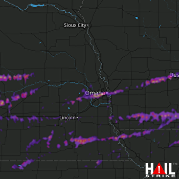 Hail Map Omaha, NE 05-28-2019