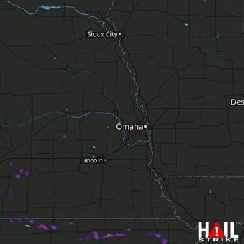 Hail Map Marysville, KS 06-06-2019